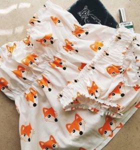 Пижама с лисичками