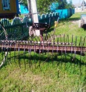 Конные грабли переделаны для трактора