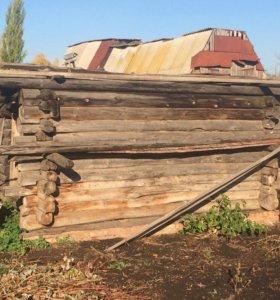 Сруб для бани, дрова