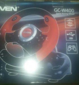 Руль и педали gc-w400 game racing wheel