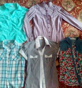 Блузки. 10-12 лет.