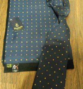 Новый Набор мужской шарф и галстук