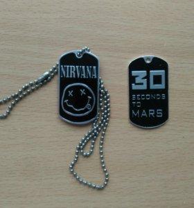 Металлические медальоны рок-групп
