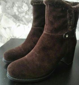 Новые натуральные зимние ботинки.