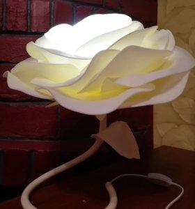 Настольный интерьерный ночник-роза