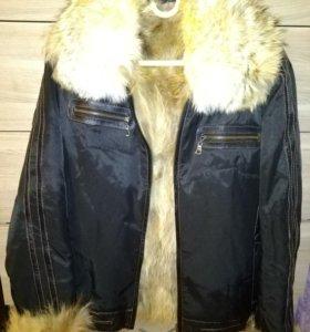 Зимняя куртка на волчьем меху