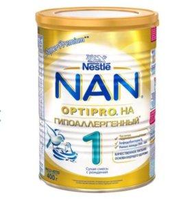 Смесь NAN 1 OPTIPRO гипоаллергенный 0-6, 400 гр.