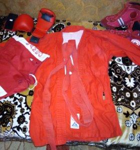 Кастюм САМБО(куртка,перчатки,борцовки,шорты)