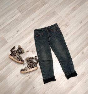 Утеплённые джинсы 116