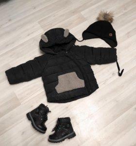Тёплая куртка с ушками