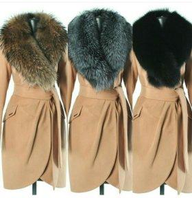 Пальто с мехом арт-098
