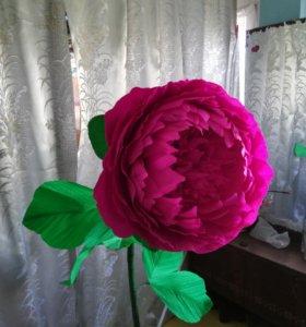 Цветок из гофро бумаги