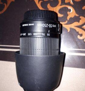 Canon 55-250+canon 18-55