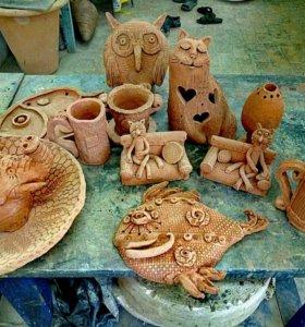 Мастер-класс керамика, лепка из глины