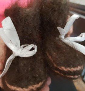Носки из собачьей шерсти. Ньюфаундленд. Для детей.