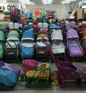 Санки-коляски малышкам и малышам