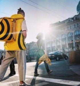 Пеший курьер в Яндекс Еда