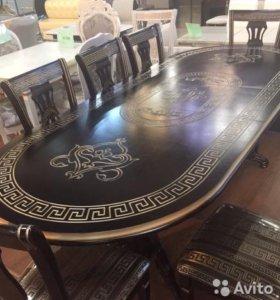 Стулья и стол резные арт №160