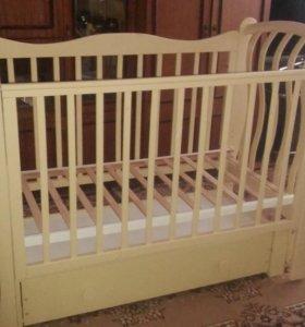 Детская кроватка Ландыш -продольный маятник