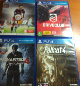FIFA 16, DRIVECLUB, UNCHARTED4, FALLOUT4.