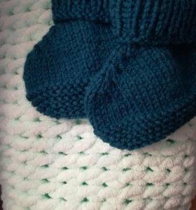 Вязаные носки ручной работы 🙌