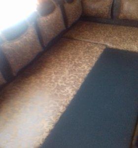 угловой диван на кухню со спальным местом