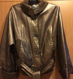 Шикарная кожаная куртка (Турция).