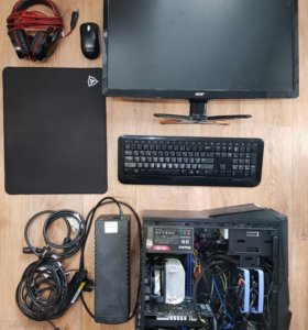 Игровой пк Intel, 8гб, ssd 128гб+hdd 1тб, gtx1050