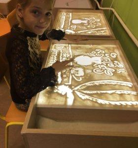 Приглашаем на мастер классы по рисованию песком!
