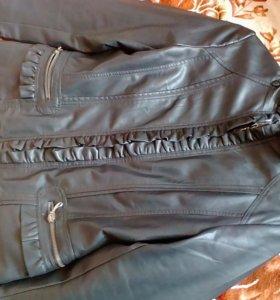 Кож куртка