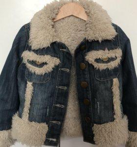Джинсовая утеплённая куртка Next