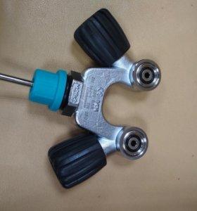 Вентиль M25x2 230bar 2 выхода DIN-INT V-образный