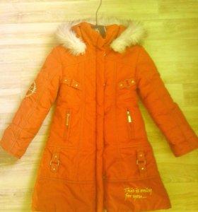 Тёплая зимняя куртка 110-116-122р.