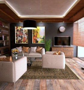 Дизайн решение интерьера дома, коттеджа
