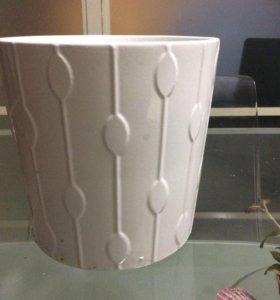 керамическое кашпо 15х15