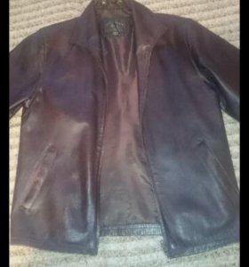 Куртка кожа весна-осень, размер 48