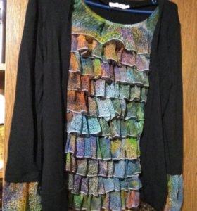 Блузка трикотажная с рюшами р. 46