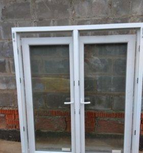 окно пвх 2-х створчатое, двойной стеклопакет