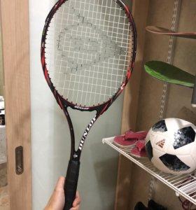 Теннисная ракетка детская, подростковая dunlop 25