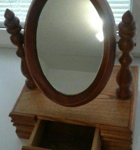 Шкатулка резная с зеркалом