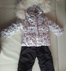 Зимний костюм для девочки+сапоги в подарок