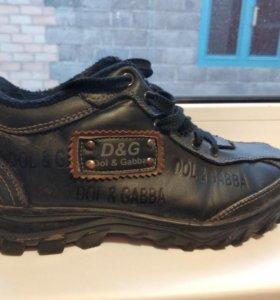 Демисизонные ботинки с мехом