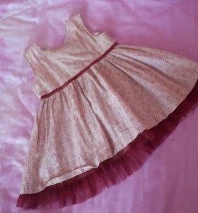 Платье на малышку 9-12 мес.