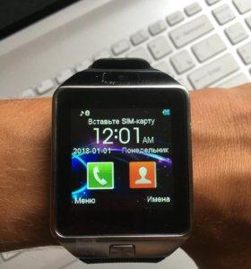 Новые Умные Часы Smart Watch DZ09 silver Гарантия