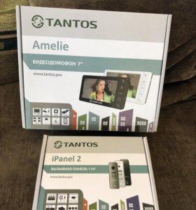 """Видеодомофон Tantos Amelie 7"""" и вызывная панель"""