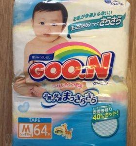 Подгузники Goon, 6-11 кг, 64 шт.