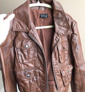 Куртка кожаная topshop s