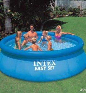 Новый бассейн intex