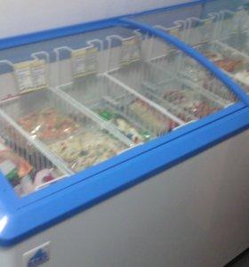 Морозильный ларь с гнутым стеклом