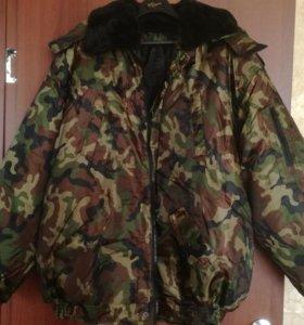 Камуфляжная утепленная куртка